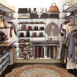 Have used The Container Store's elfa décor closet systems in home renovation projects. Organization made easy with adjustable shelving and drawers - quick installation, too. Love Elfa products!