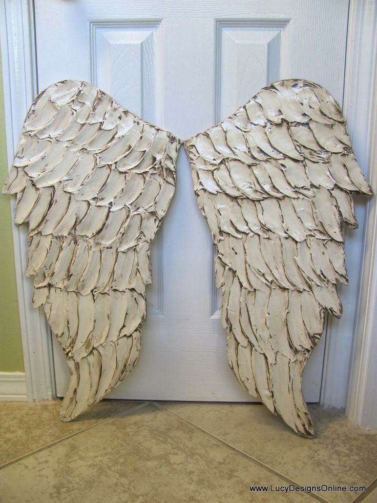 distressed white angel wings size small Wooden Angel Wings Sculptural Wall Art in Two Sizes and Lots of Colors