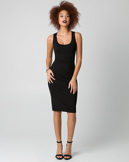 Ponte Scoop Neck Shift Dress - A body-flattering silhouette defines a classic shift dress that you can wear at your desk and at dinner.