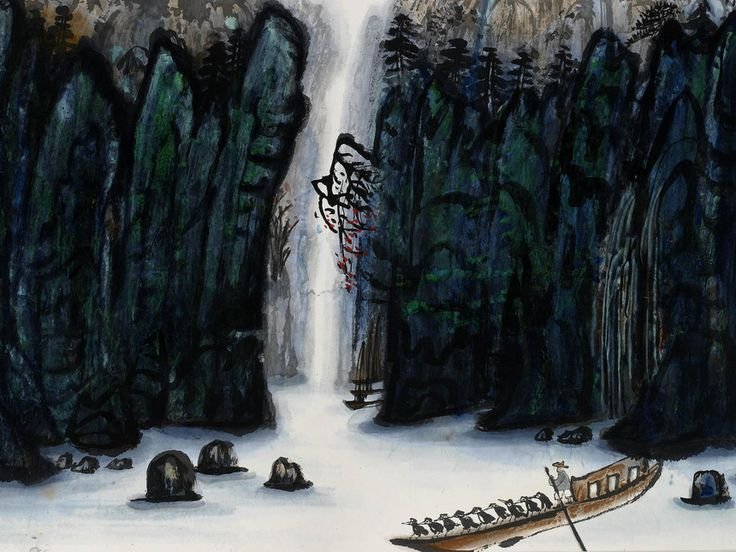 Fang Zhaoling (1914–2006), Flowering branches on cliffs, 1978, Ink and colour on paper, 68.6 x 88.9 cm, Private Collection, © Ashmolean Museum, University of Oxford