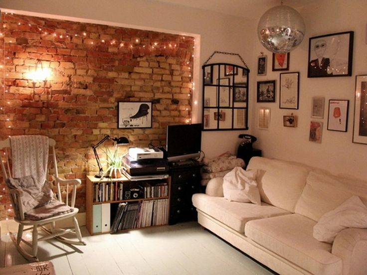 Brick wall lights27 best Industrial images on Pinterest   Exposed brick walls  . Pinterest Fairy Lights Living Room. Home Design Ideas