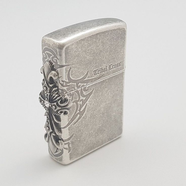 Zippo Original Lighter Side Tribal Cross EMB Silver Authentic Made USA Free Gift #Zippo