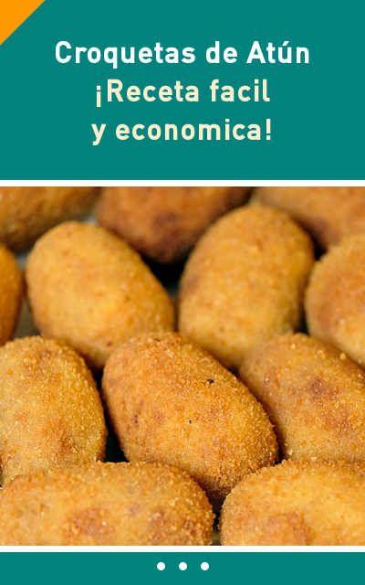 Croquetas de Atún. ¡Receta #facil y #economica! #croquetes #atun #receta