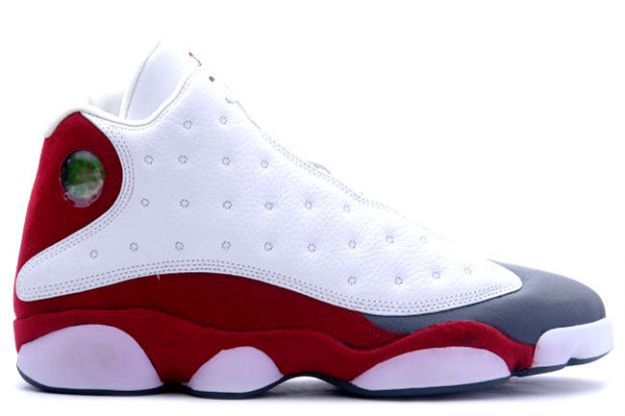 Air Jordan 13 (XIII) Retro White / Team Red - Flint Grey 310004-161 1/22/05