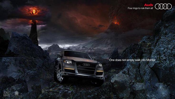 L'Audi sà come farlo bene. Persino a Mordor.