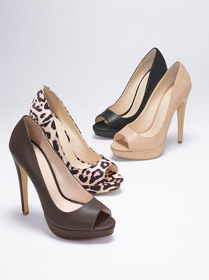 Peep-toe Pump Nude Beige Black and Leopard High Heel