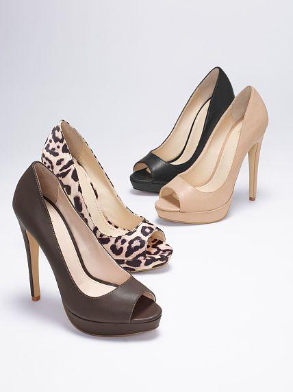 Peep-toe Pump Nude Beige Black and Leopard High Heel