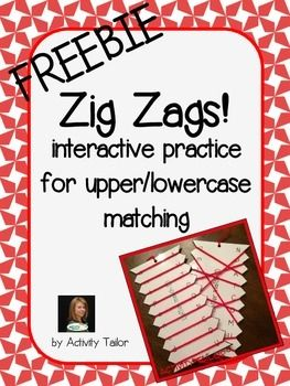 This+free+sample+is+from+Zig+Zags+for+Phonemic+Awareness.Add+some+zip+to+upper+and+lowercase+letter+matching+with+a+Zig+Zag!++These+easy+to+make+activities+will+become+a+staple+in+your+room,+especially+if+you+work+with+groups+because+they+keep+hands+busy.