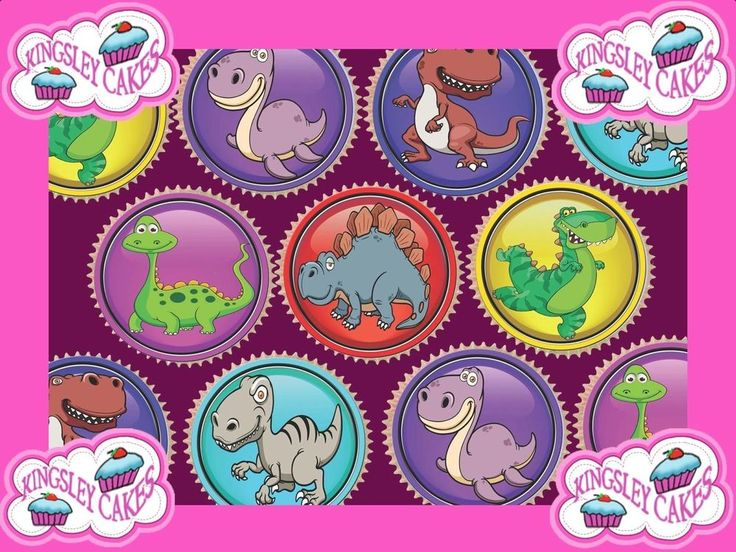 24 x CUTE DINOSAURS PREMIUM QUALITY CUPCAKE TOPPERS EDIBLE RICE WAFER PAPER 3593