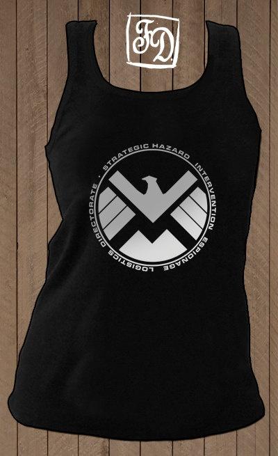 S.H.I.E.L.D. , The Avengers t-shirt ( tank top ). $21.00, via Etsy.