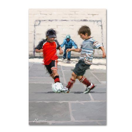 Trademark Fine Art 'Street Football' Canvas Art by The Macneil Studio, Size: 22 x 32, Multicolor