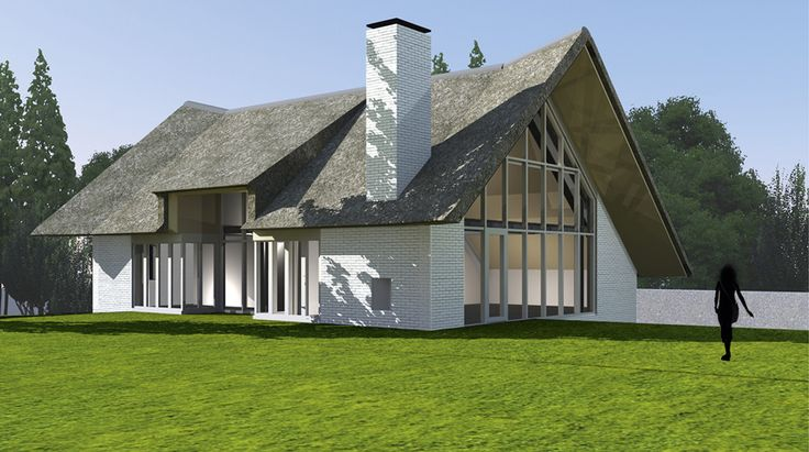landelijke huizen moderne met rieten kap - Google zoeken