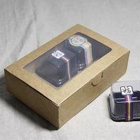 18 * 12 * 5 см крафт-бумага хлебобулочные торт коробка с окном печенье печенье упаковка Box
