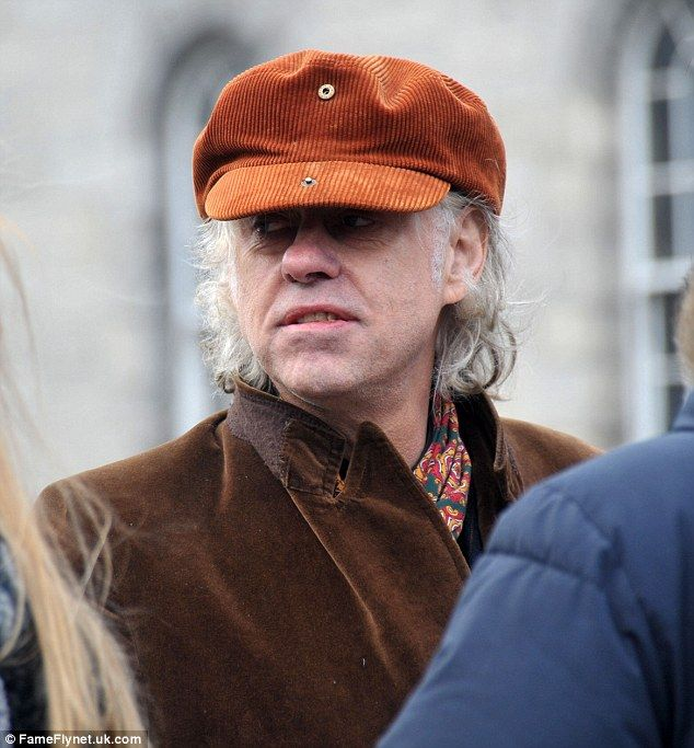 Among the mourners was Bob Geldof, who was formerly in the band Boomtown Rats