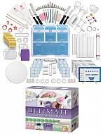 Ultimate decorating kit.   This set includes a variety of essential tips, cutters, shaping tools, spatulas and more.