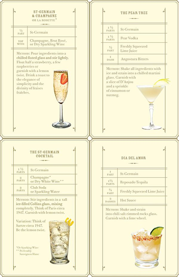 St. Germain cocktail recipes