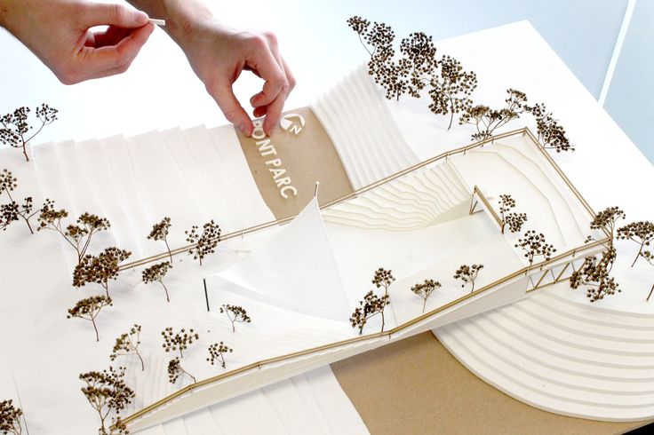 Pont Parc // Bridge Park concept 1:100 model
