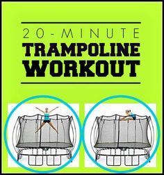 A 20-minute trampoline workout that's a super fun way to tighten, tone, and build your core strength this summer!   Fit Bottomed Girls