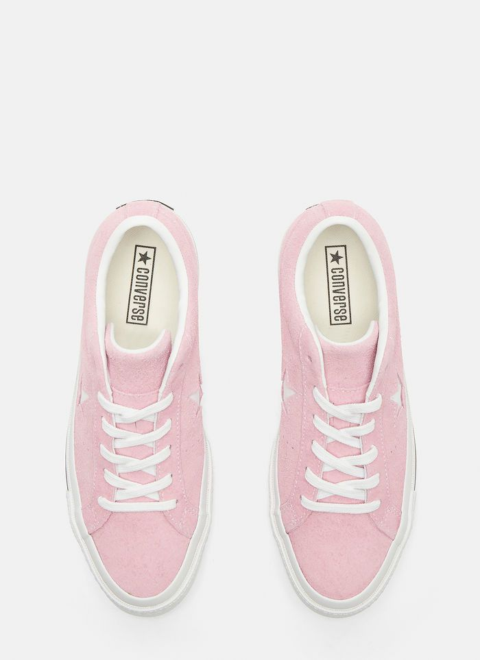 Converse One Star Suede Sneakers in Pink | LN CC | Suede