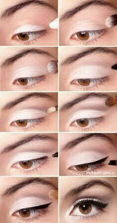 Maquillaje para ojos delicado, suave
