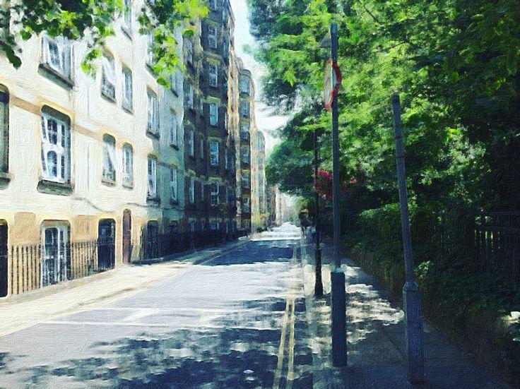 A green street in London