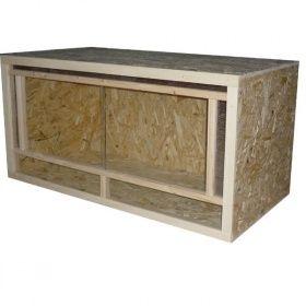 Serina Terrarium Frontbelüftung Holz 120 x 60 x 60 cm | Feelma