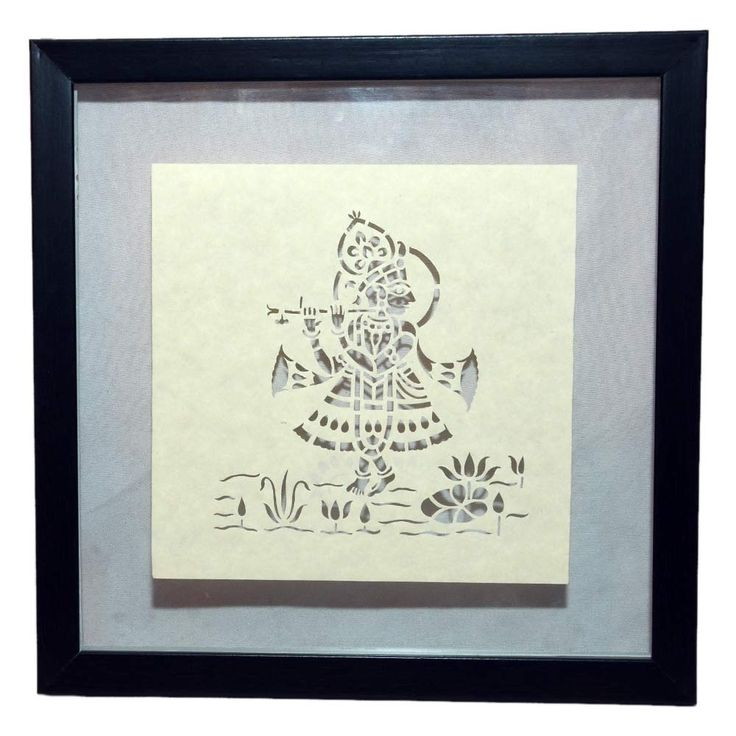 Sanjhi painting is a tradition of art that originated out of the culture of Lord Krishna and flourished in Uttar Pradesh, India. This craft involves the cutting of an intricate stencil depicting scenes from the life of Lord Krishna and the use of this paper stencil in making rangolis. The cutting of the sanjhi requires enormous concentration and skill. Click here to buy this product - www.kalakhoj.com