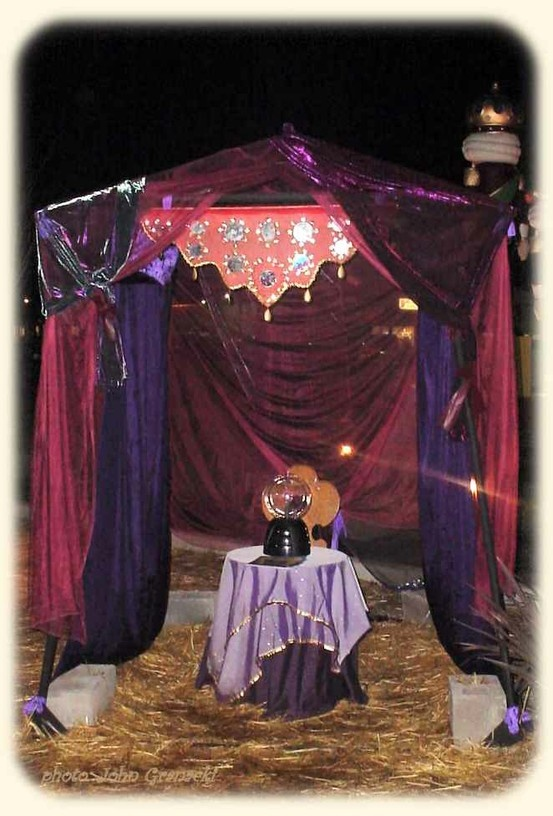 gypsy party fortune tellers tent and crystal ball