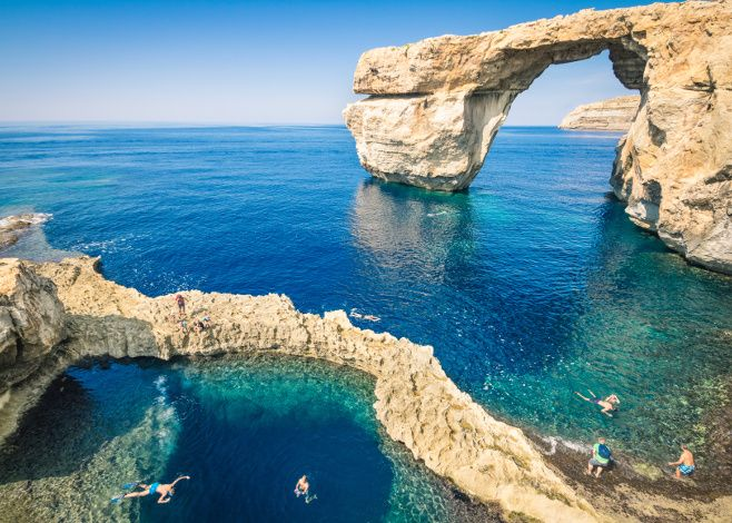 Though it's not a tropical destination, Malta offers clear, warm water, wrecks…