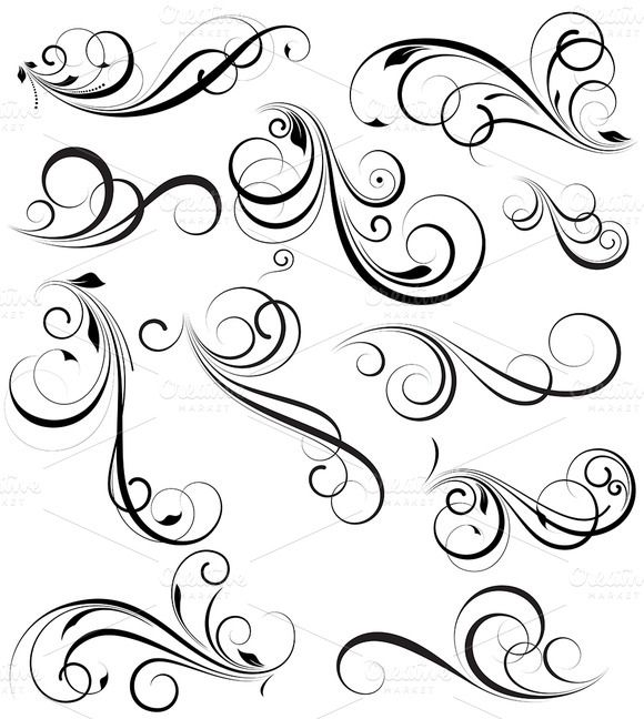 Check out Swirly vectors Design Elements by truemitra on Creative Market