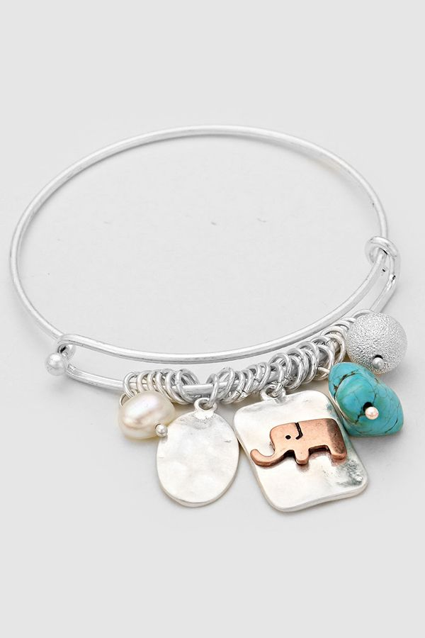 Ellie Charm Bracelet in Silver | Women's Clothes, Casual Dresses, Fashion Earrings & Accessories | Emma Stine Limited