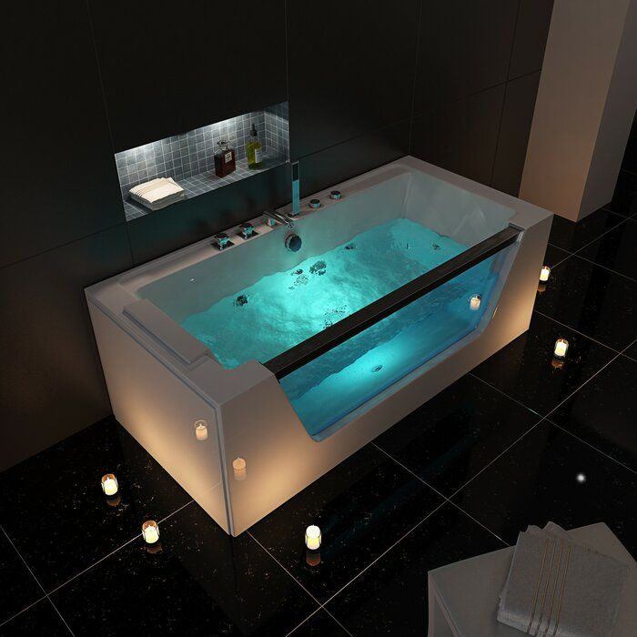 Madalynn 1700 Mm X 800 Mm Double Ended Whirlpool Bathtub With 9 Jets Whirlpool Bathtub Bathroom Design Luxury Bathtub Shower Combo