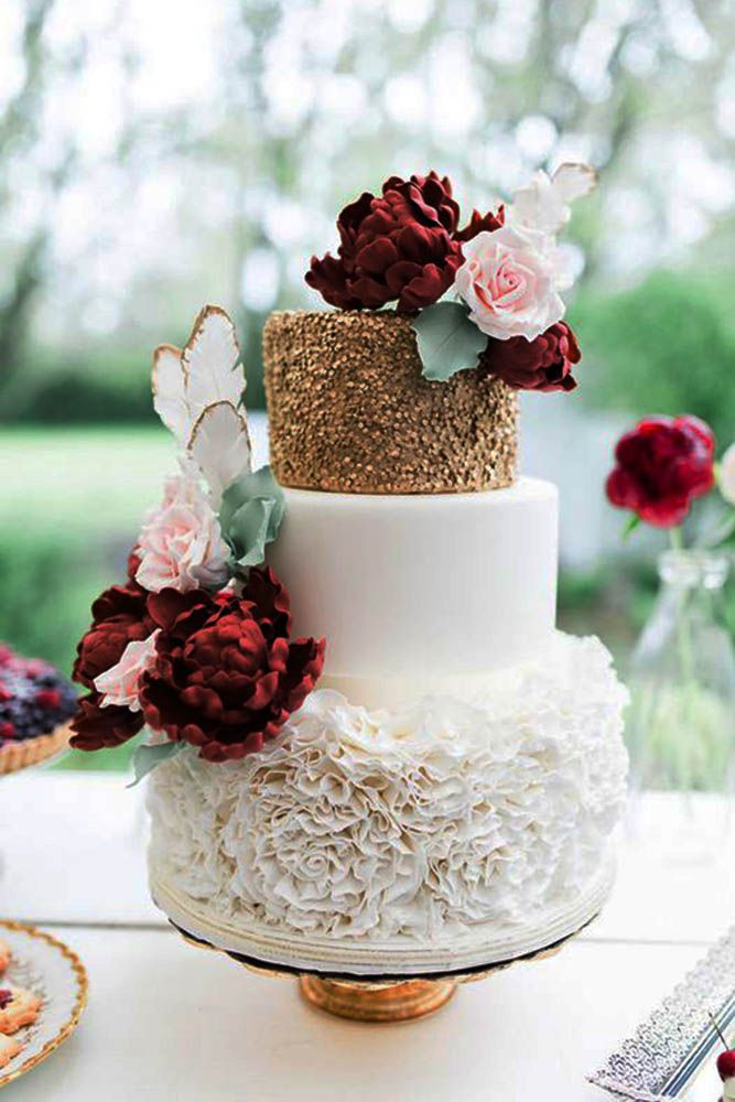 burgundy wedding cake flowers 449 best cakes images on cakes marriage and cake 12243