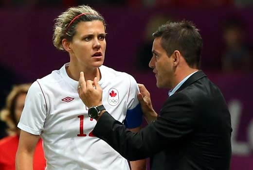 The women's soccer semifinal match between Canada and the U.S. was, by all accounts, a thrilling event for both sides. But in the aftermath of their emotional loss, all-time Canadian leading scorer Christine Sinclair (above) is alleging that referee bias had the odds stacked against her team from the first kick.