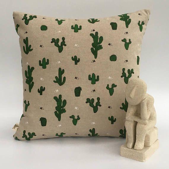 Cactus Cushion Cactus Pillow Cactus Print Cactus Fabric