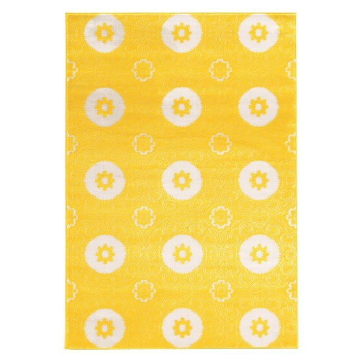 Linon Prisma Karma Indoor Area Rug Yellow - RUGPA1423