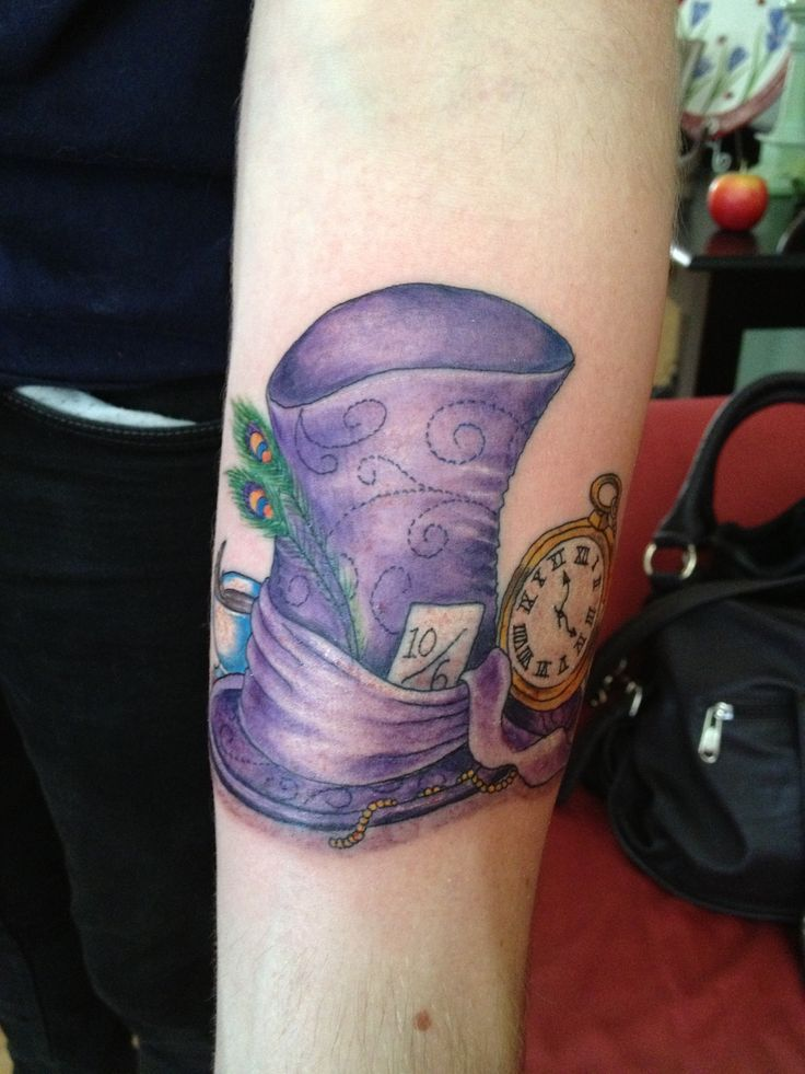 mad hatter hat tattoo drawing - Google Search