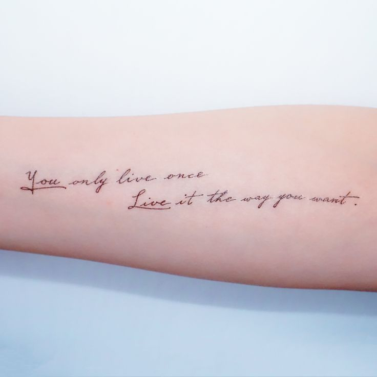 Meaningful And Inspirational Tattoo Quote Tattoo Quotes