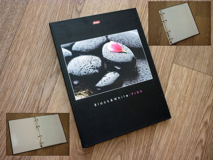 Тетрадь на кольцах со сменным блоком Black&White&Pink Формат листов: А5 Количество листов: 80 шт. Вид линовки: клетка Тип крепления: кольца Материал обложки: картон ламинированный Ширина корешка: 30 мм  Тетрадь на кольцах представлена в А5 формате. Блок - сменный, сделан из офсетной бумаги (плотность 65 г/кв.м) и состоит из 80 листов в клетку. Верхняя обложка отгибается на 360 градусов и позволяет использовать ее как «планшет» для записей.  Артикул: 07659 Цена: 120 грн.  #тетрадьнакольцах…