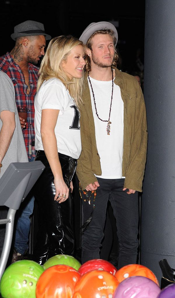 Ellie Goulding and Dougie Poynter look VERY cosy during night out - but does she really fancy Calvin Harris? | the bike shed - Yahoo omg! UK
