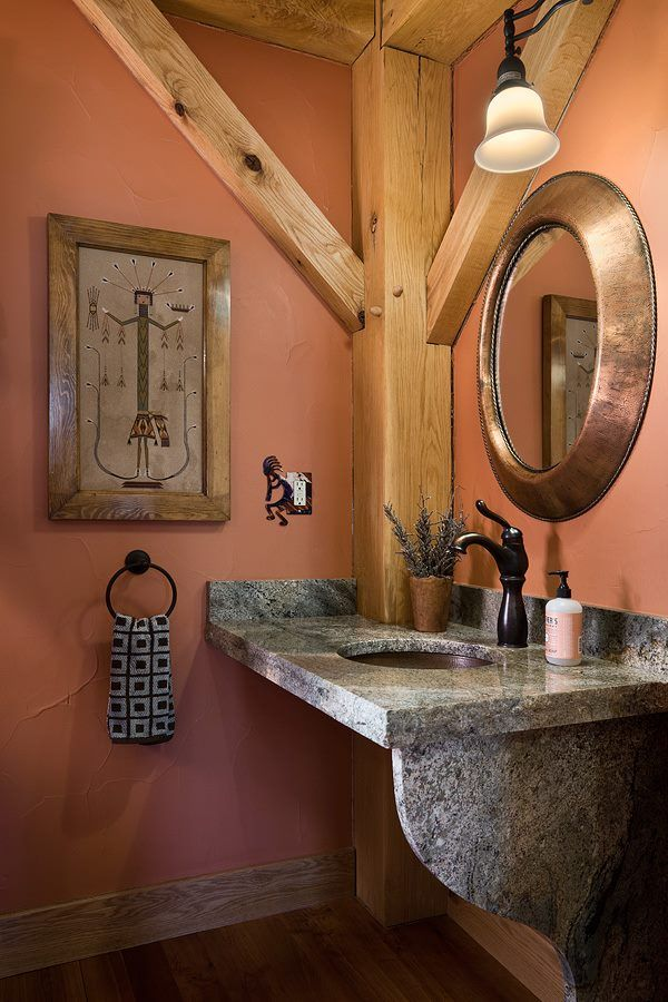 Floating bathroom sink with counter. Good alternative to a pedestal sink, to keep the room feeling open.