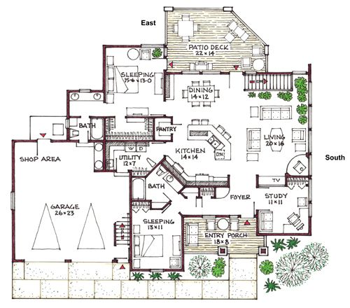 17 best images about blueprints on pinterest house plans for Open floor plans with basement
