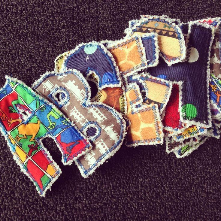 Fabric scrap alphabet