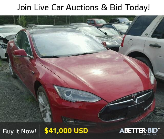 Salvage  2014 TESLA TESLA for Sale - 5YJSA1H19EFP44956 - https://abetter.bid/en/32429347-2014-tesla-model_s