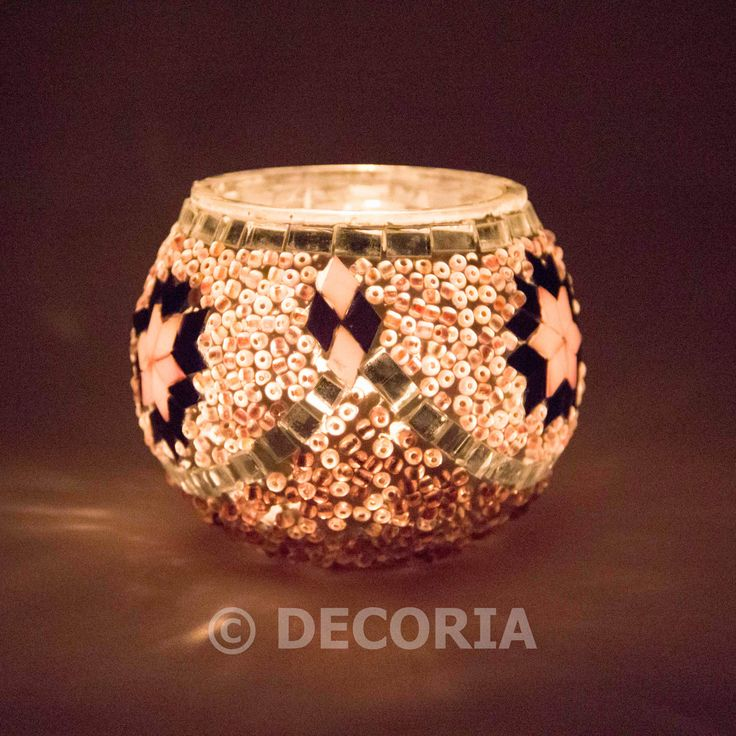 Candle Holder - Pink & Purple - DECORIA HOME & GIFT