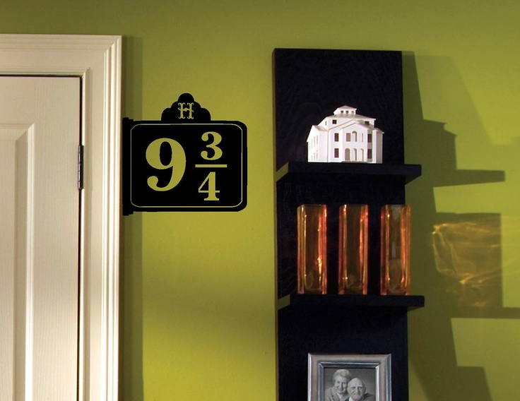 9 3/4 Replica Sign - Wall Decal / Vinyl Sticker