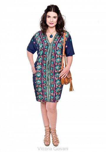 SUKIENKA PLUS SIZE STREGA - Vittoria Giovani - Sukienki dla Puszystych – Sukienki Duże Rozmiary – Sukienki XXL