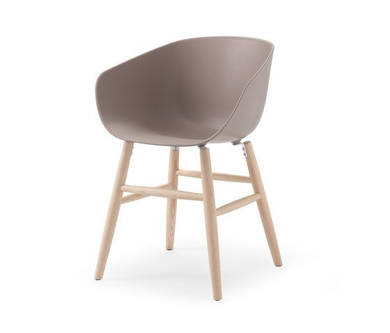 Maya omc beige grey by Softline - 1979 | Visitors chairs / Side chairs