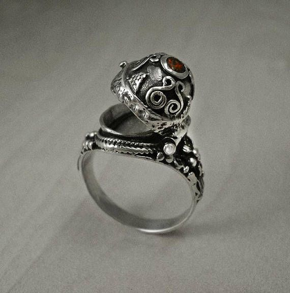 Poison ringsterling silver ringmedieval ringsilver poison