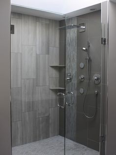 Contemporary Large Format Rectangular Tile Set Vertically In Shower Design,  Pictures, Remodel, Decor And Ideas   Page 4